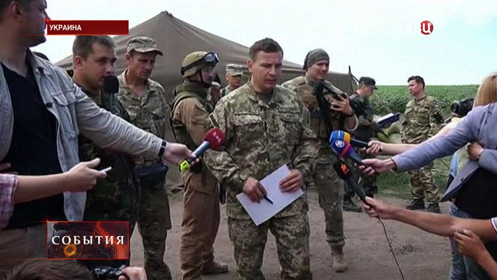 Валерий Гелетей даёт интервью
