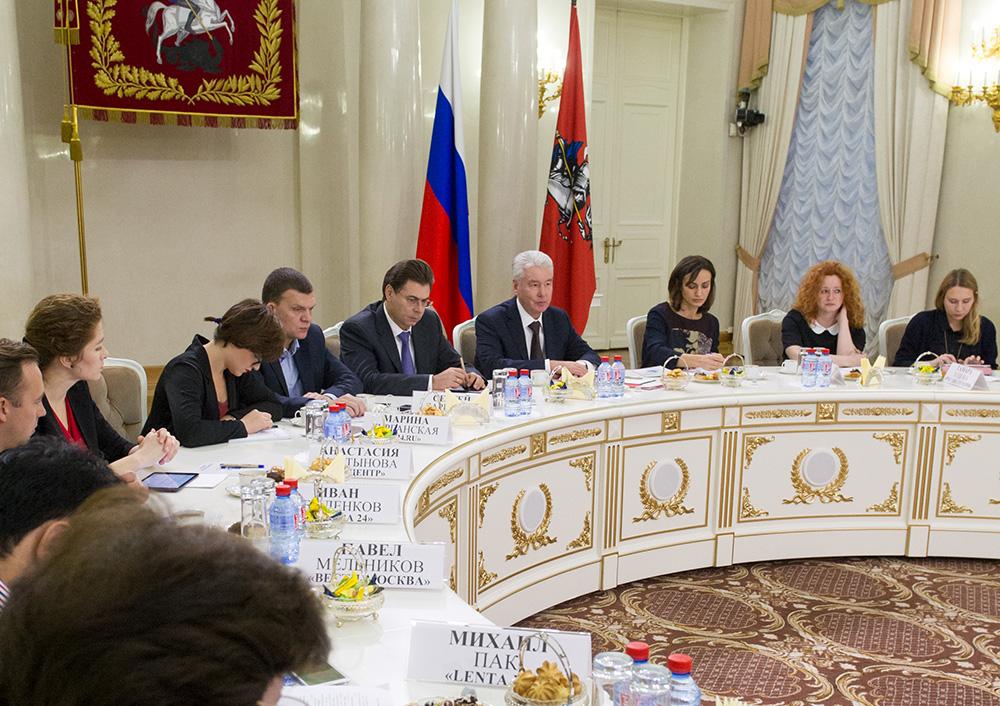 Мэр Москвы Сергей Собянин провел пресс-конференцию