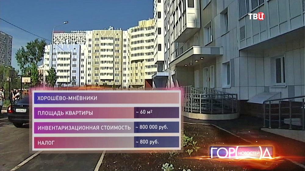 Налог на недвижимость в Хорошёво Мневниках
