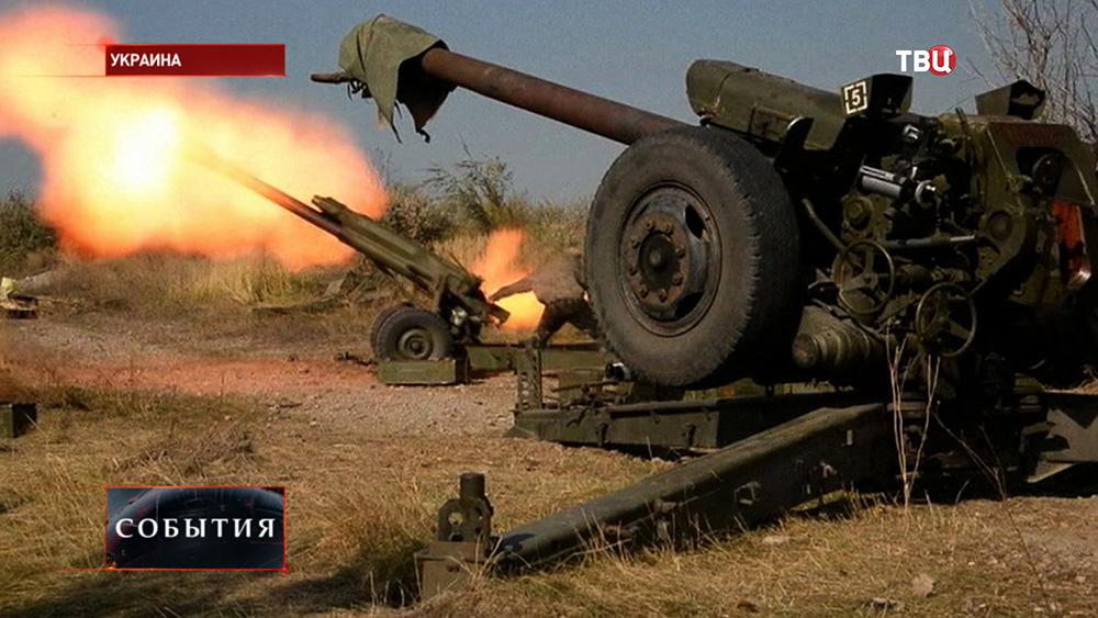 Артобстрел на юго-востоке Украины