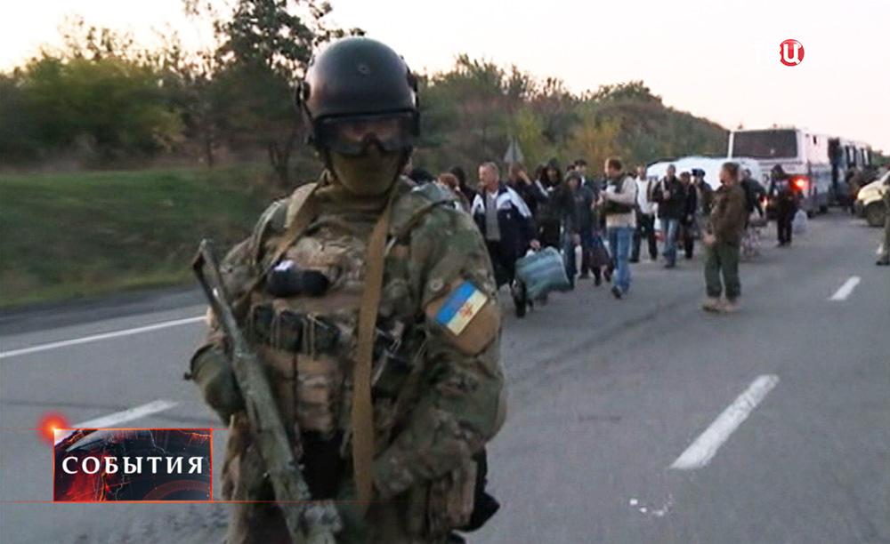Обмен военнопленными на юго-востоке Украины