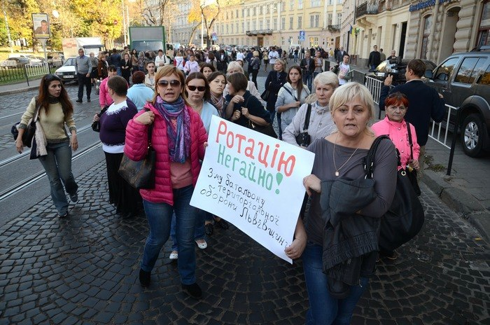 Массовая акция протеста прошла во Львове