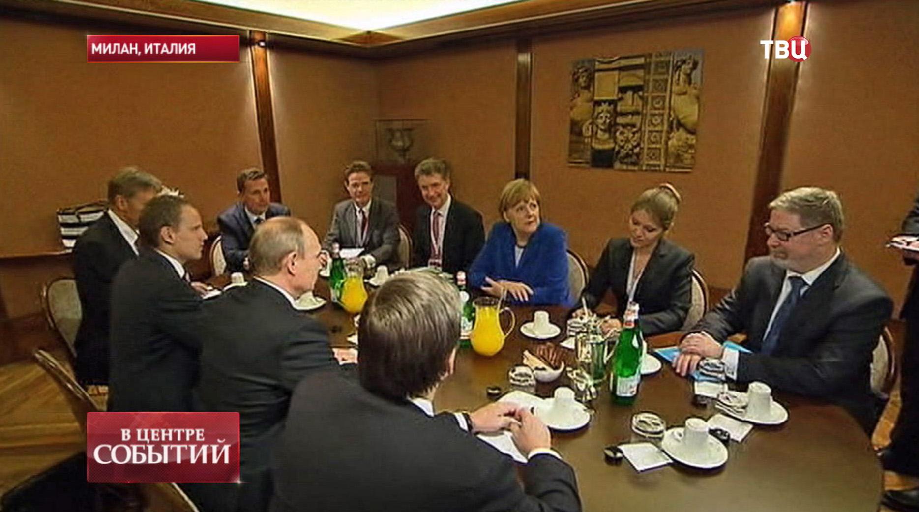 Встреча президента России Владимира Путина с Президентом Украины Петром Порошенко, Федеральным канцлером Германии Ангелой Меркель и Президентом Франции Франсуа Олландом