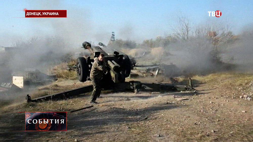 Ополченцы в Донецке ведут ответный огонь