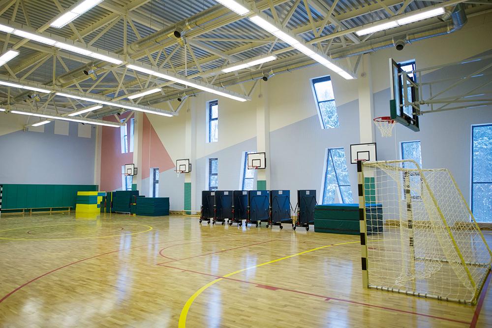 Физкультурный зал в новой школе