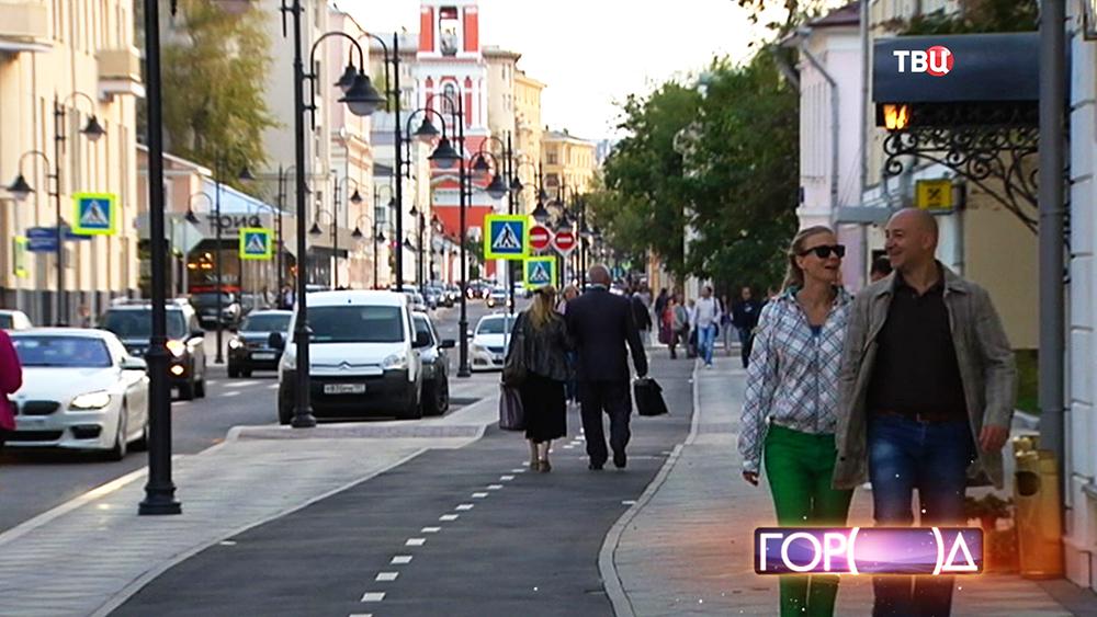 Пешеходная зона на Пятницкой улице