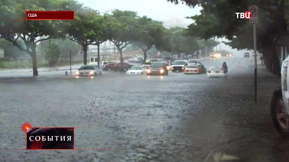 Проливные дожди в США