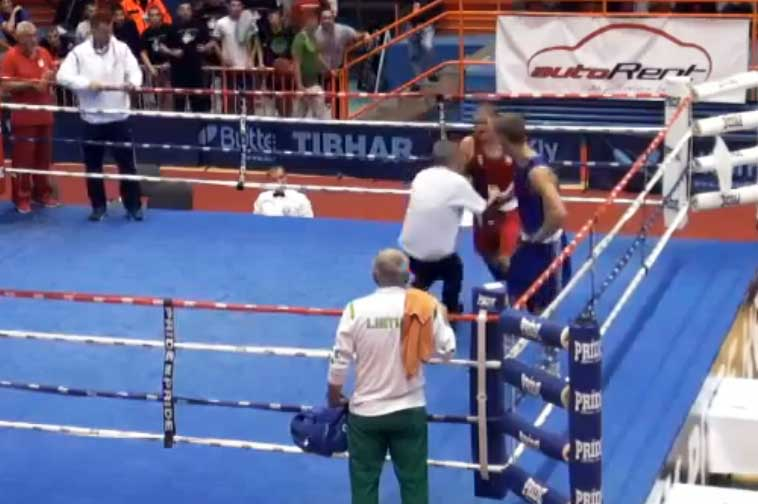Хорватский боксёр Видо Лончар избил рефери на ринге
