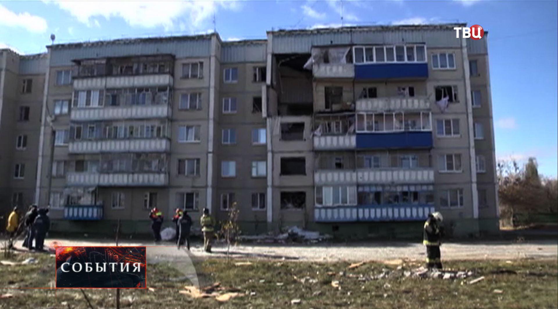 Результат взрыва газа в доме в Липецкой области