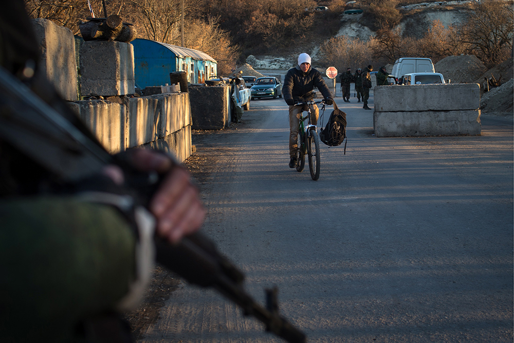 Блокпост ополчения ДНР