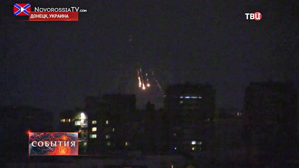 Ночной обстрел Донецка