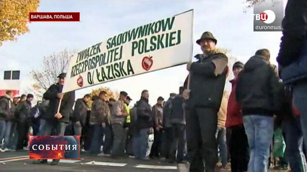 Митинг польских фермеров