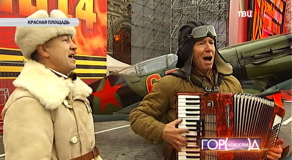 Участники репетиции парада на Красной площади