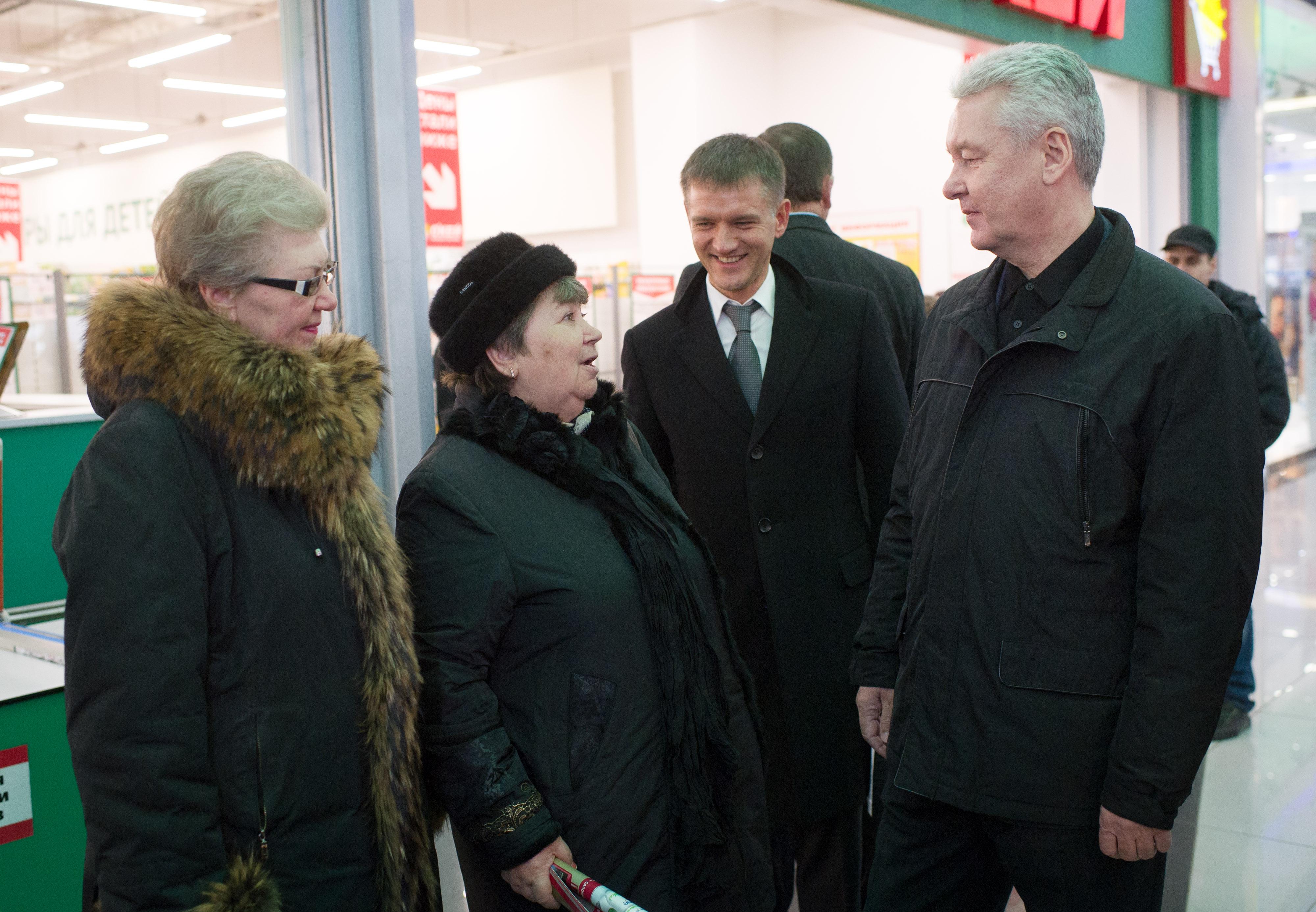 Сергей Собянин посетил многофункциональный комплекс «Водный»