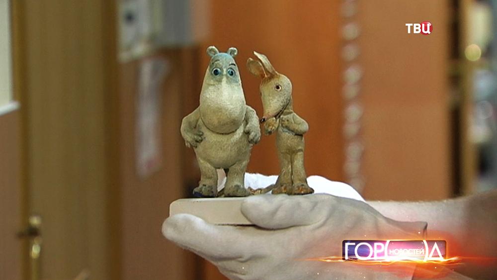 Экспонаты Музея кино из мультфильма о Муми-троллях