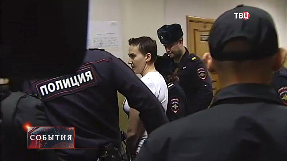 Военнослужащая Украинской армии Надежда Савченко в суде
