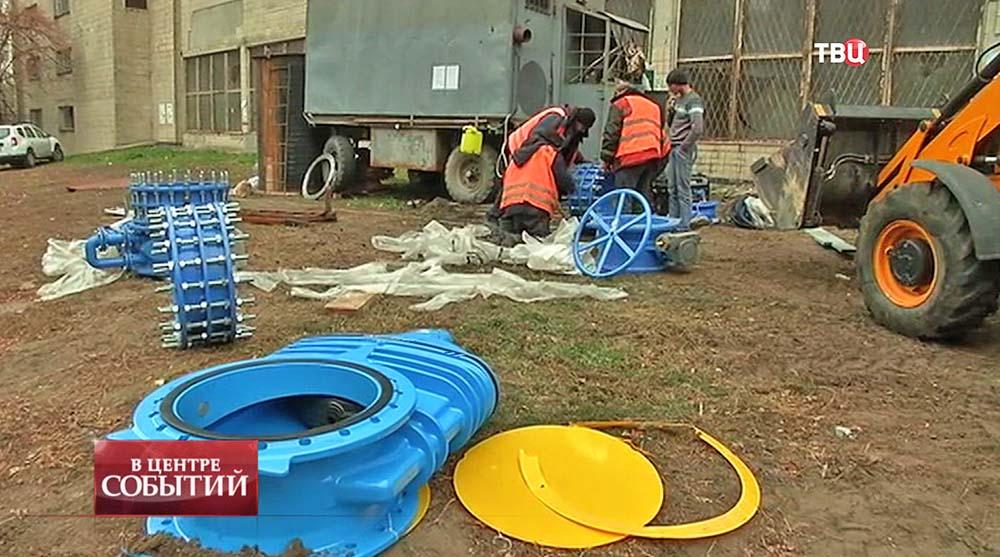 Ремонт теплосети на Украине