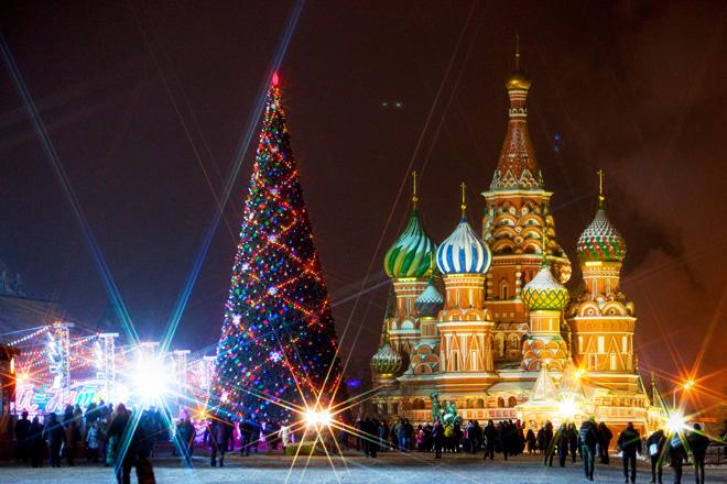 Красная площадь в новогоднем оформлении