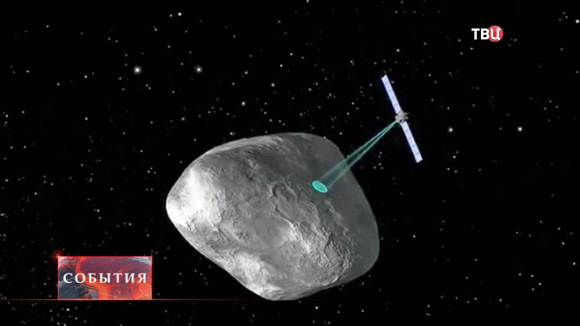 Сканирование поверхности кометы