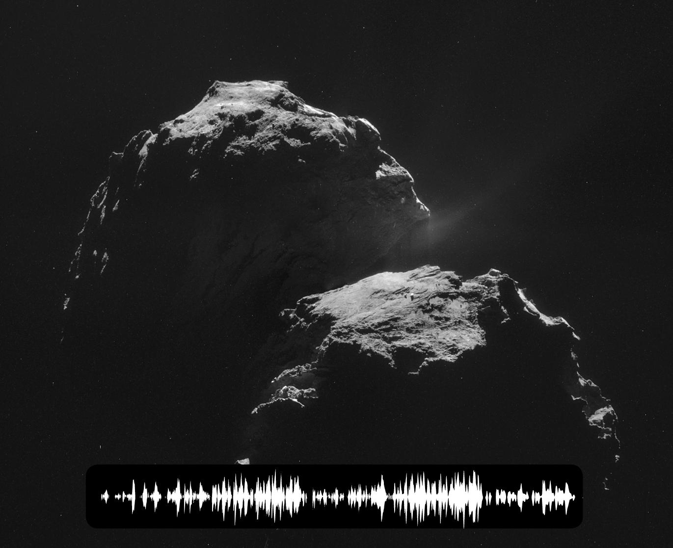 Диаграмма электромагнитных колебаний исходящих от кометы Чурюмова-Герасименко