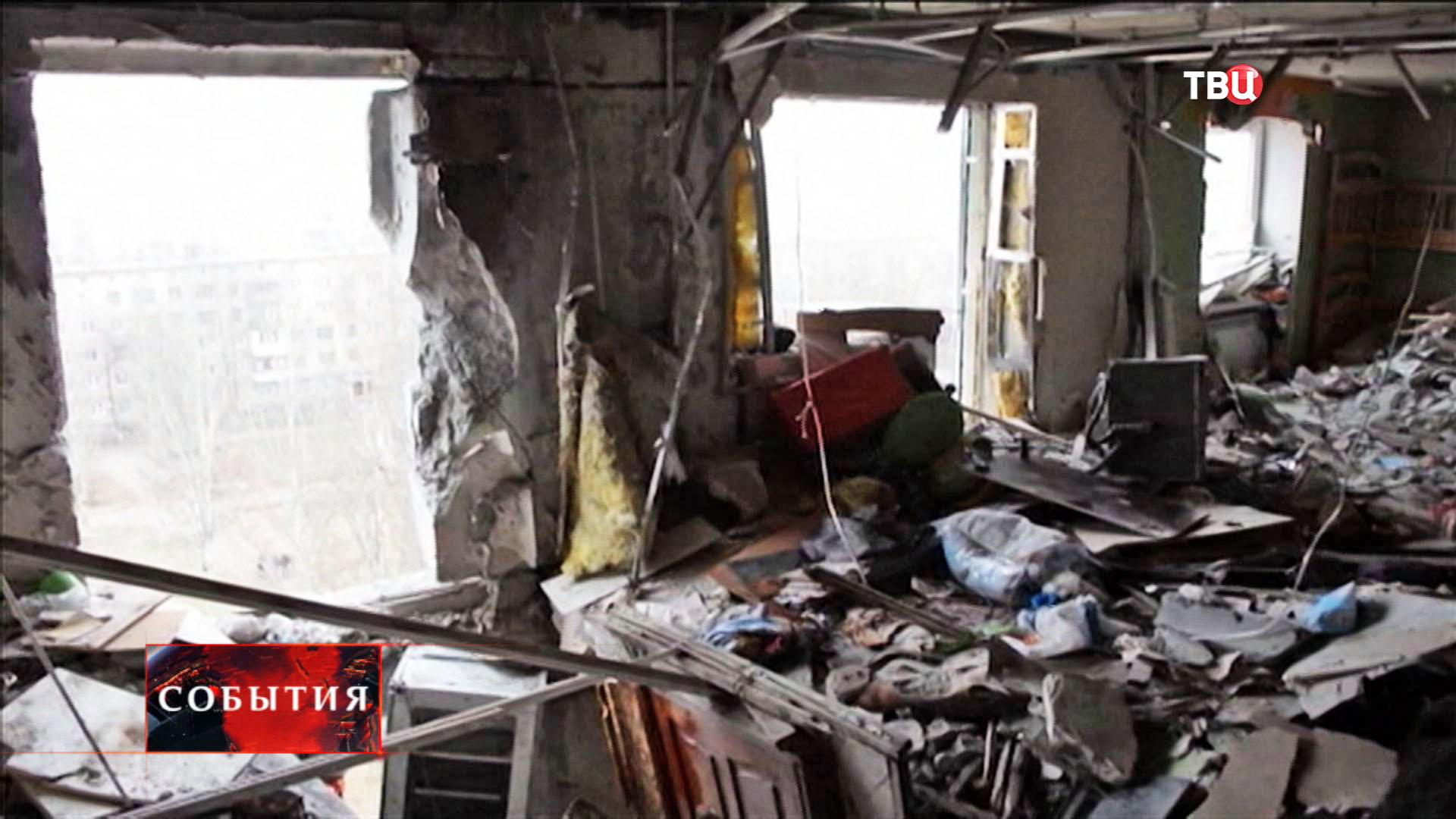 Результат артобстрела жилых районов в Донецкой области