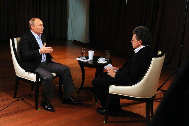 Владимир Путин ответил на вопросы представителя немецкого телеканала ARD Хуберта Зайпеля