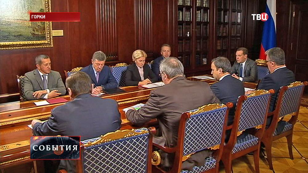 Дмитрий Медведев проводел заседание правительства РФ