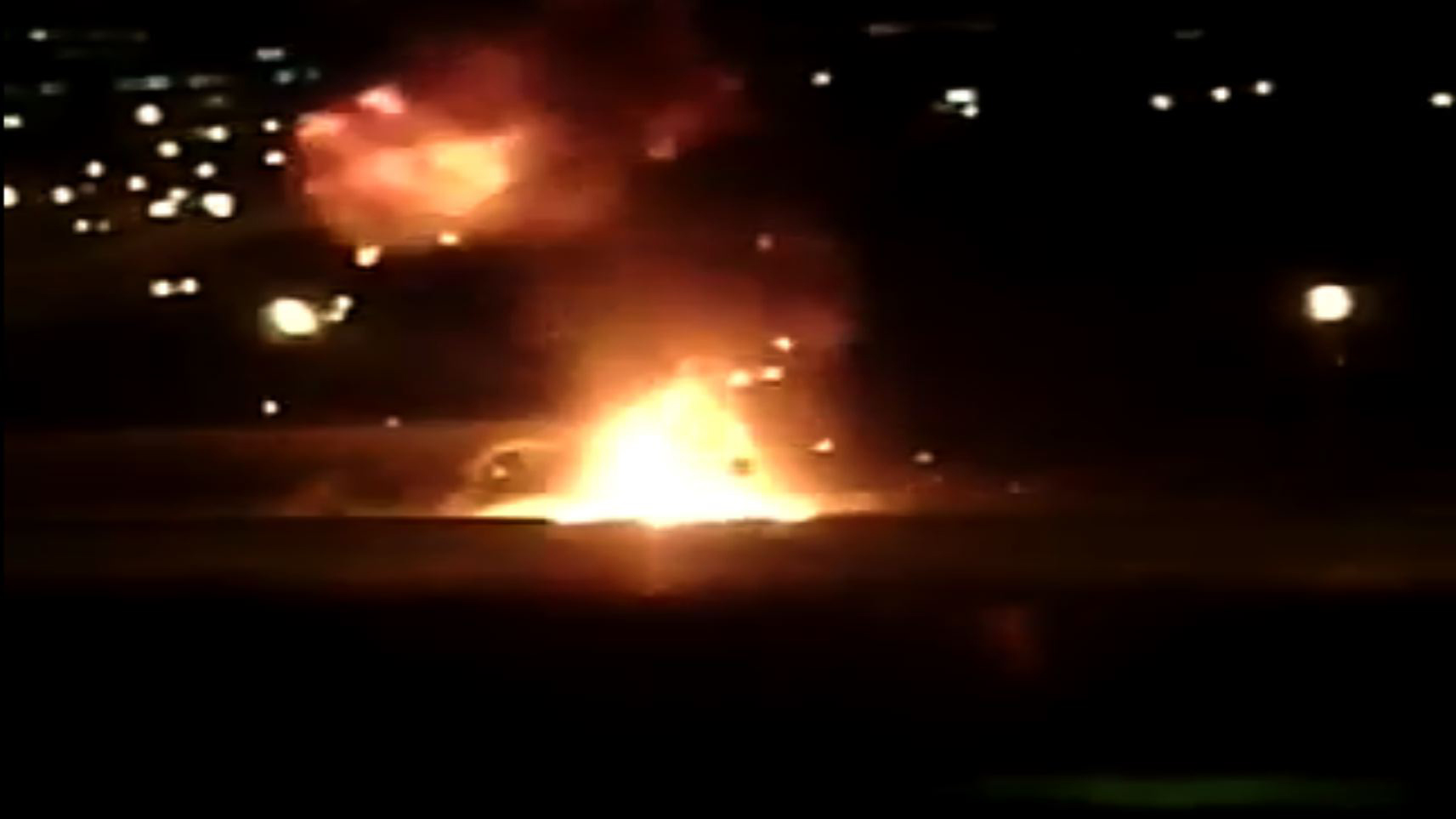 Взрыв машины на МКАД