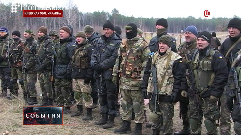 Украинские военные проходят подготовку