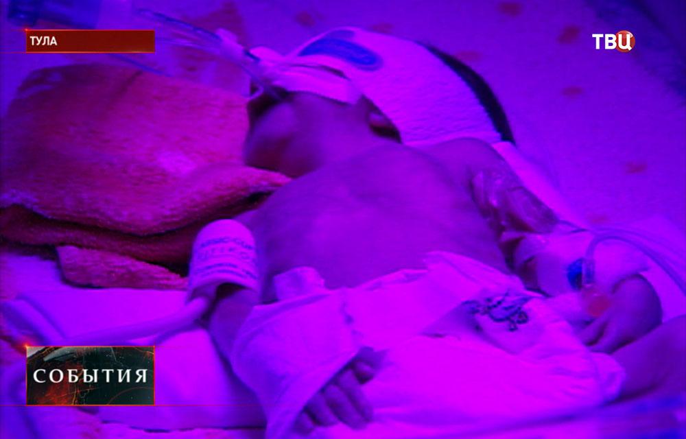 Новорожденный в роддоме Тулы