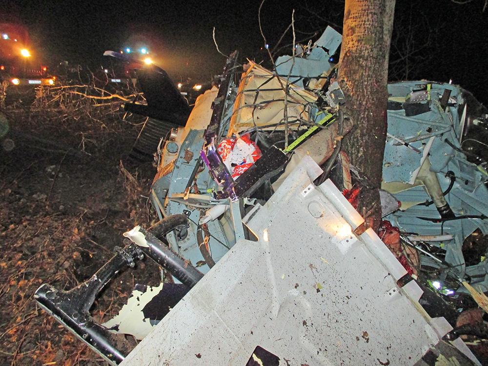 Место крушения вертолета в Нижегородской области