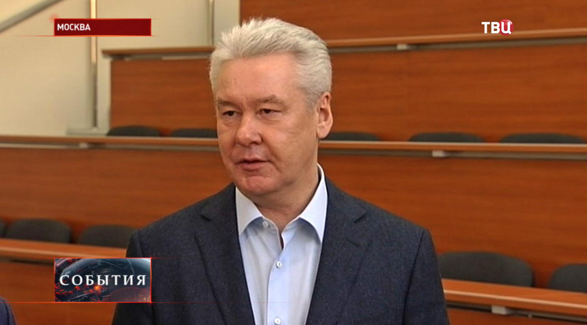 Сергей Собянин в новом корпусе ВШЭ