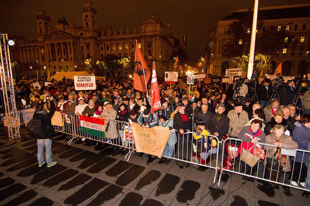 Митинг в Венгрии