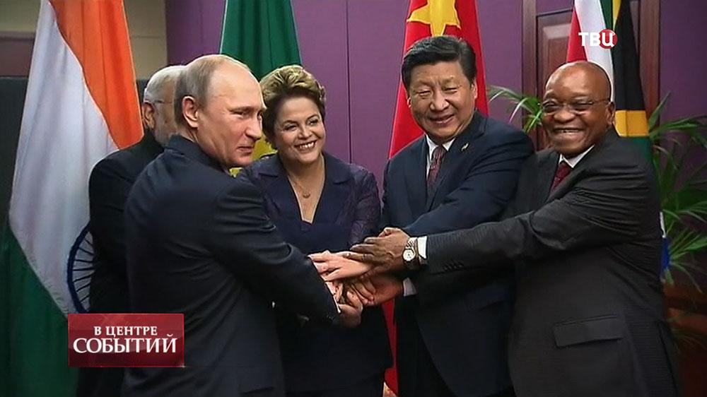 Владимир Путин на встрече глав госсударств