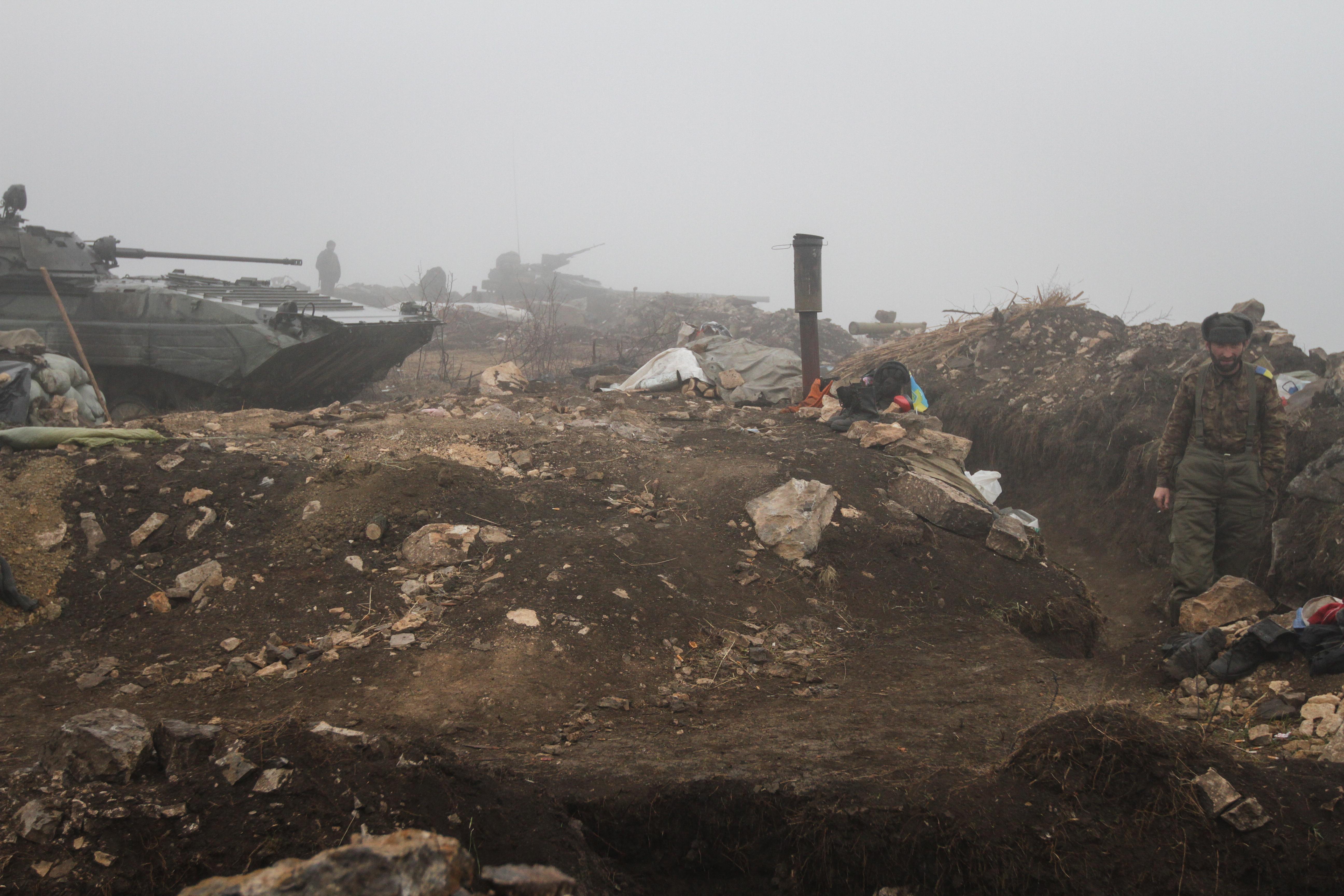 Позиции украинских войск на юго-востоке Украины