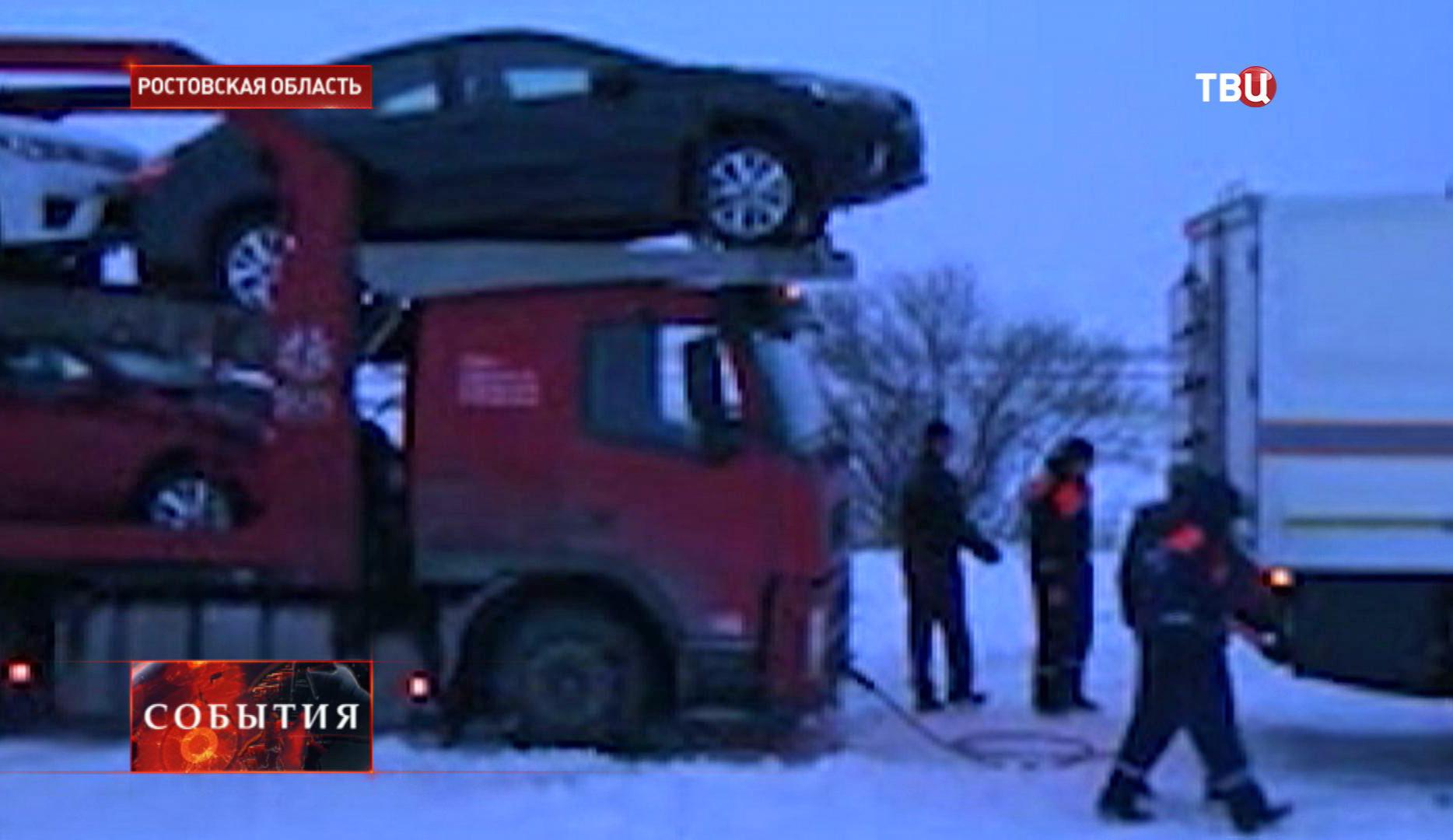 Снегопад в Ростовской области