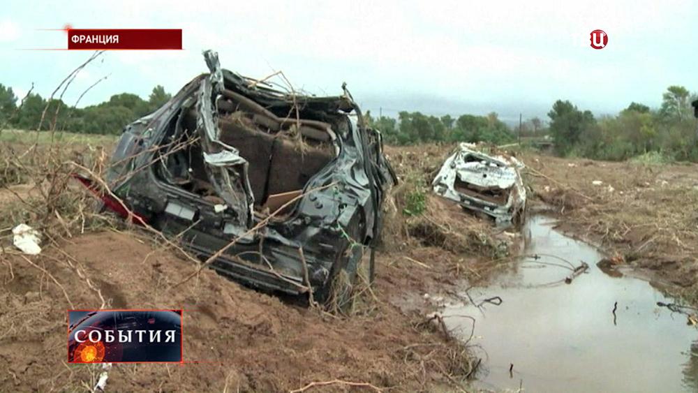 Последствия наводнения во Франции