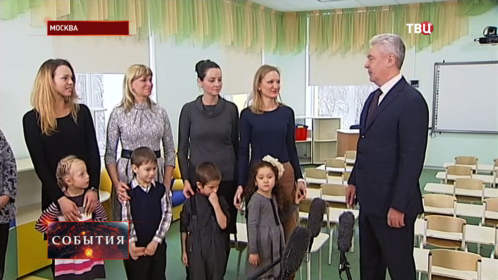 Сергей Собянин осмотрел новый детский сад