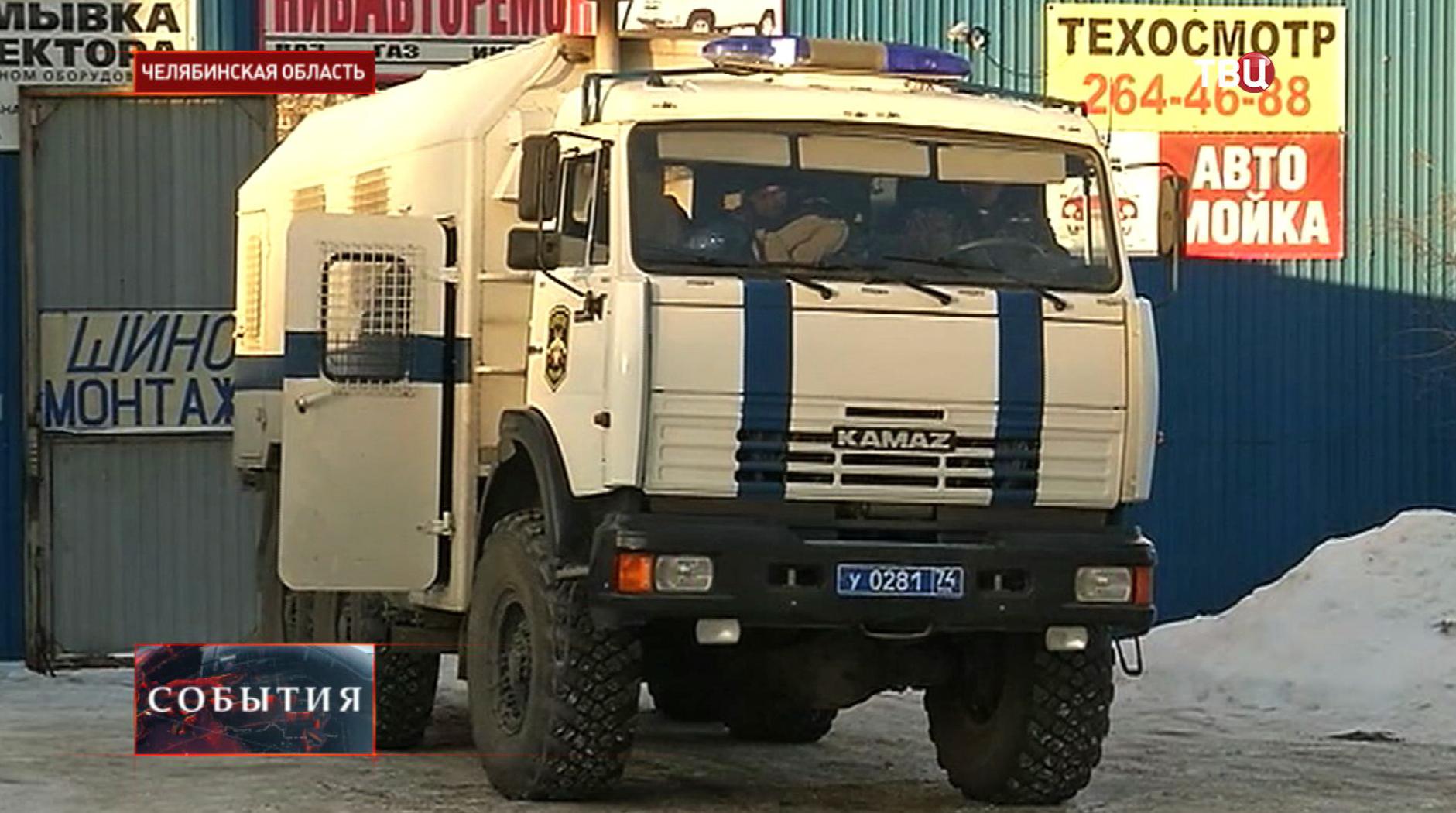 Полицейская машина в Челябинской области