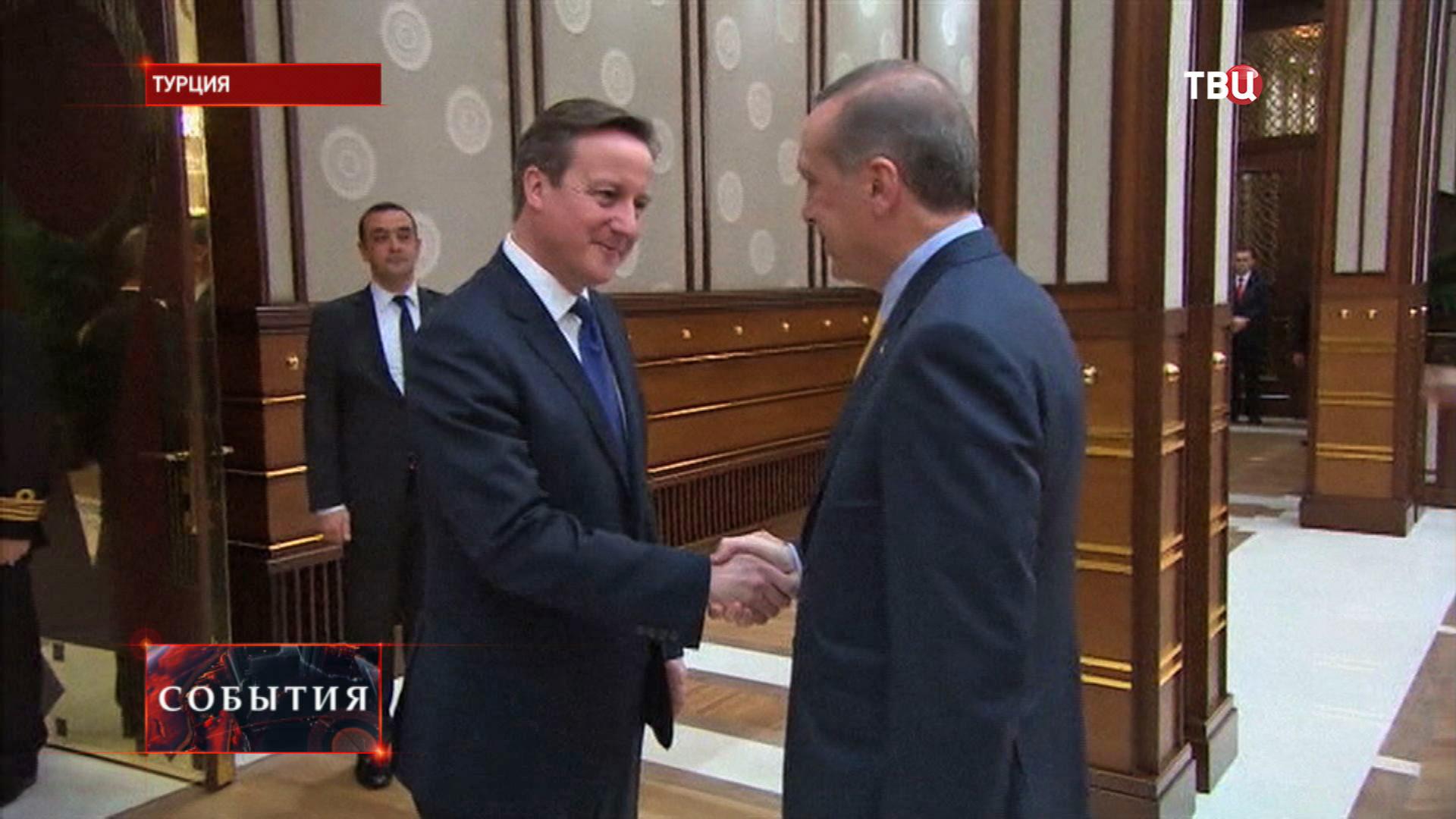 Премьер-министр Великобритании Дэвид Кэмерон и президент Турции Реджеп Тайип Эрдоган