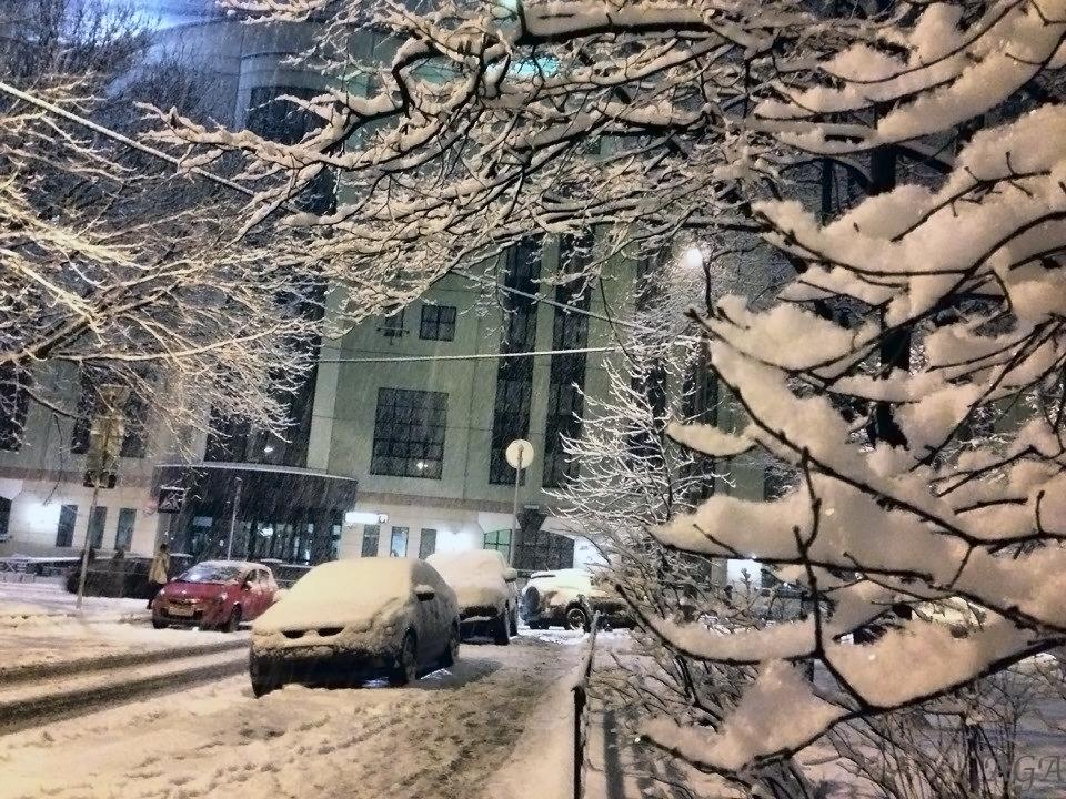 Снегопад в Москве