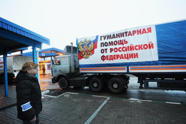 Наблюдатель ОБСЕ считает грузовые автомобили с российской гуманитарной помощью для жителей Донбасса