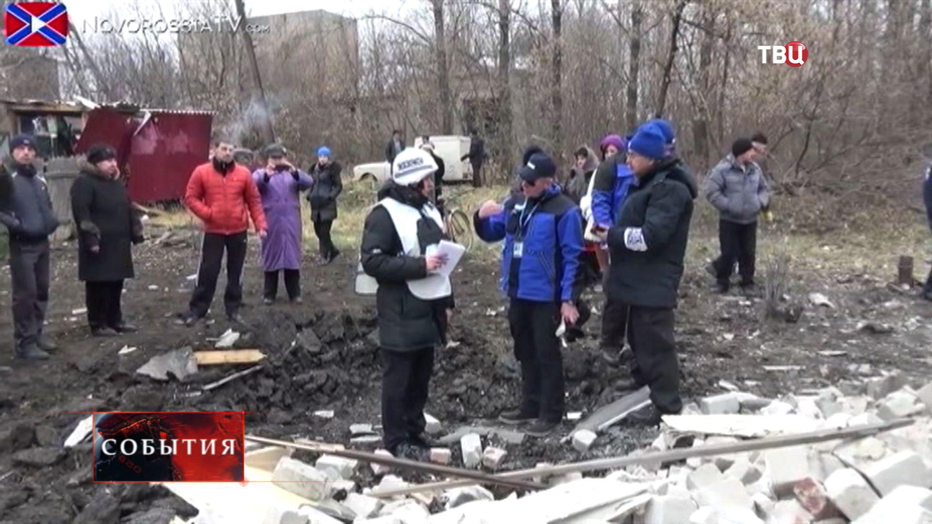 Наблюдатели ОБСЕ в Донецке