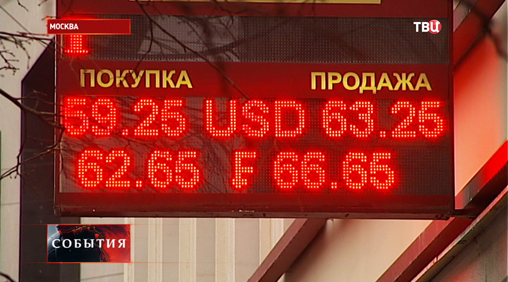 Курс валют в обменном пункте