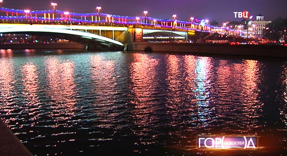 Подсветка Большого Каменного моста