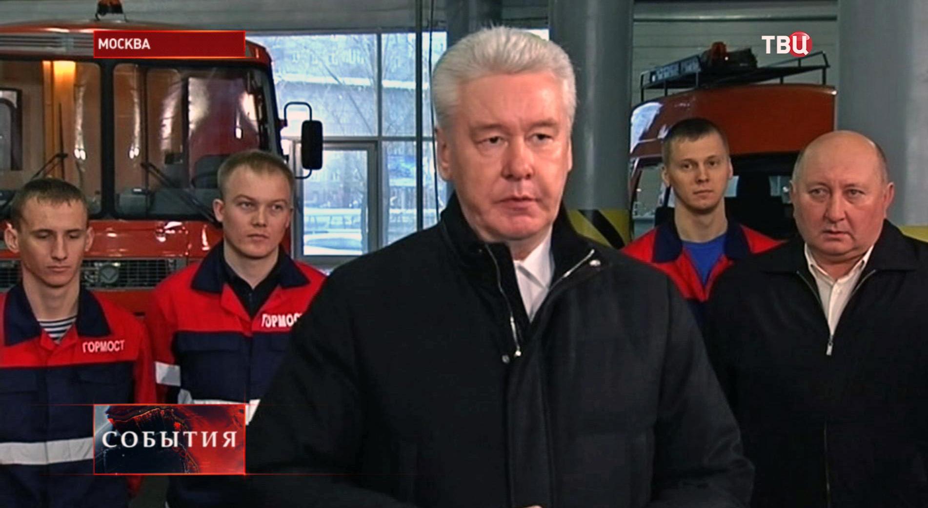 Сергей Собянин осматривает ремонт Сайкинского путепровода