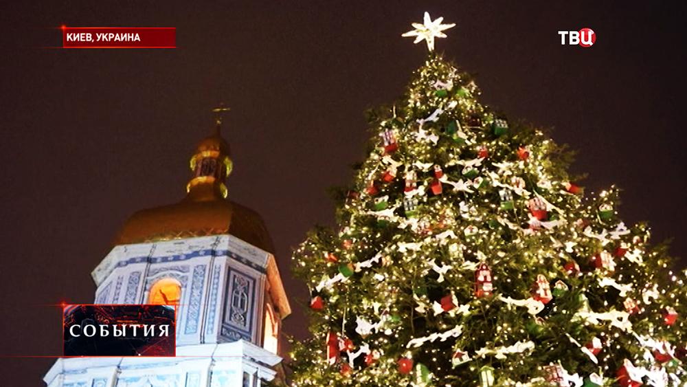 Главная ёлка Украины в Киеве