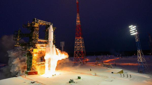 "Пуск ракеты-носителя ""Ангара-А5"""