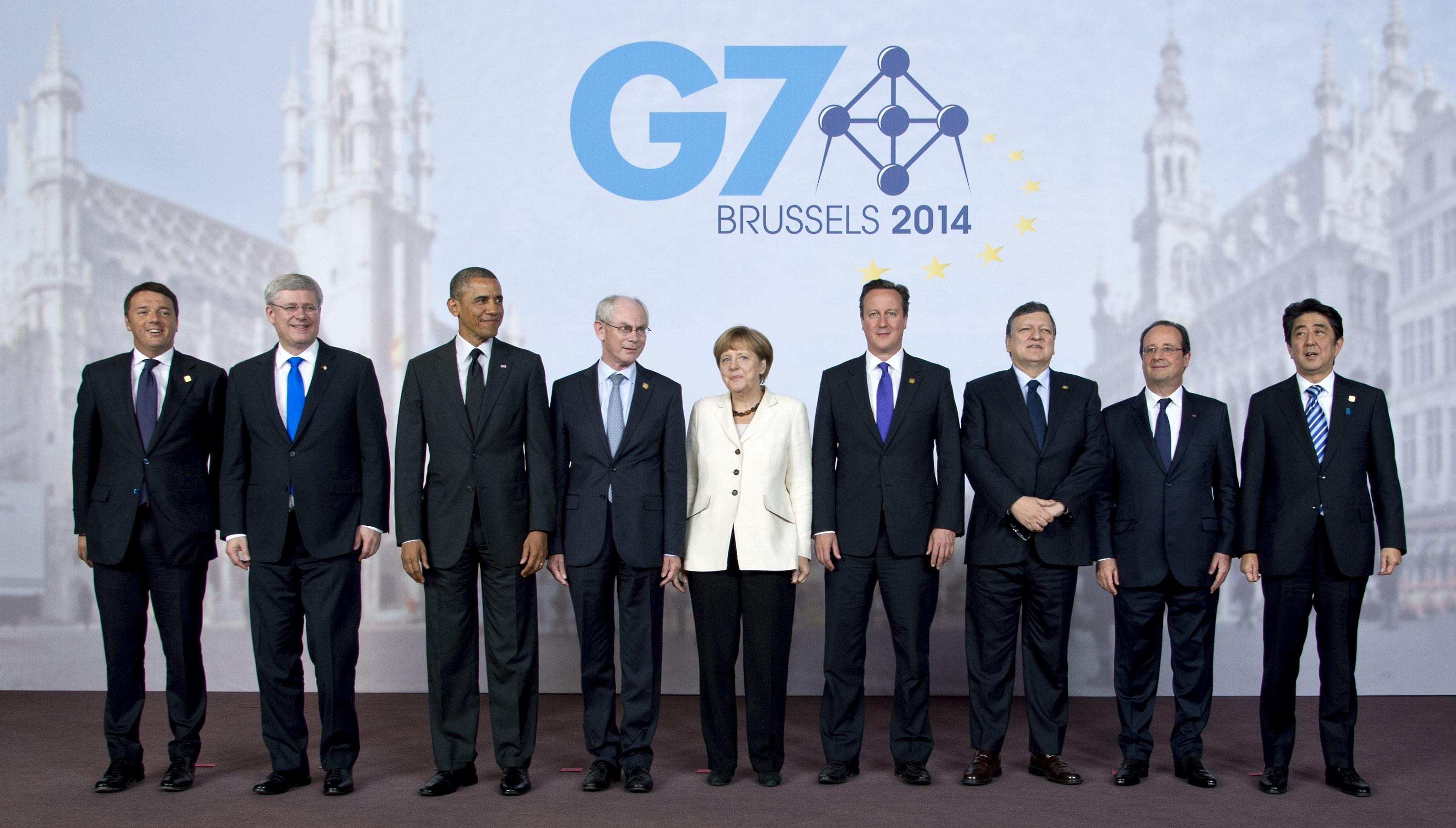 Лидеры стран участниц саммита G7 в Брюсселе