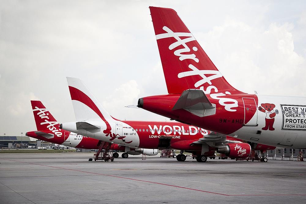 Самолеты авиакомпании AirAsia